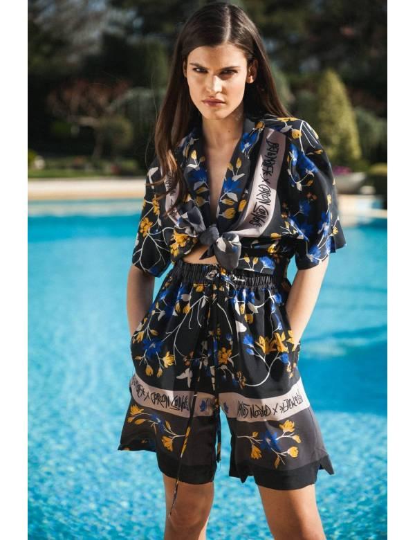 MIDNIGHT GARDEN – Silk Surfer Shirt & Shorts