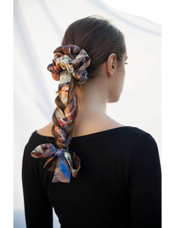 SARLISE- Silk Scrunchie | Ribbon