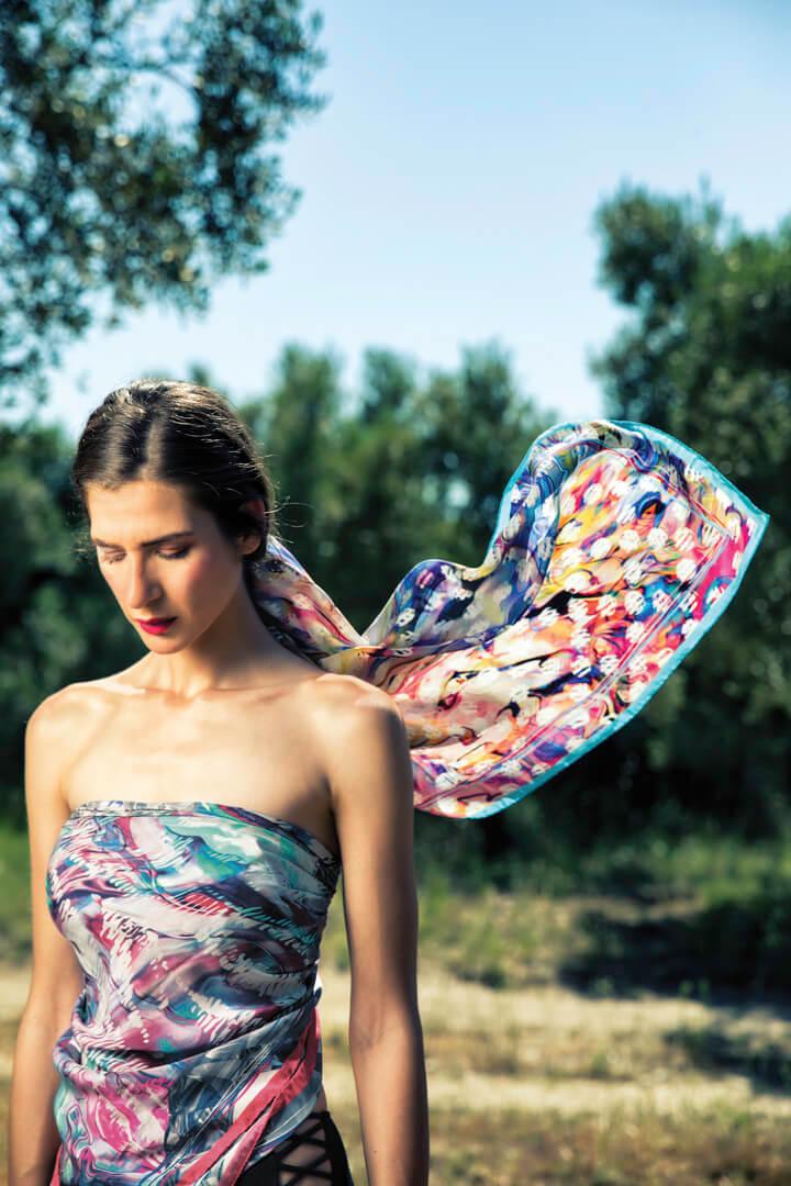 melina silk scarf