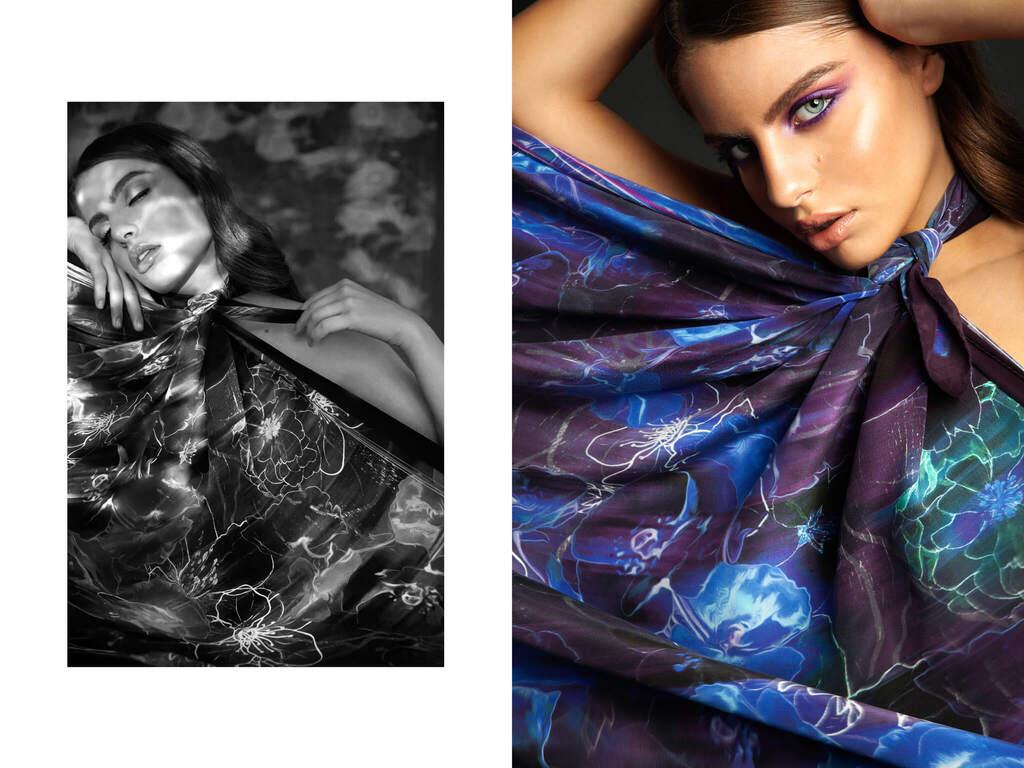 aria silk scarf