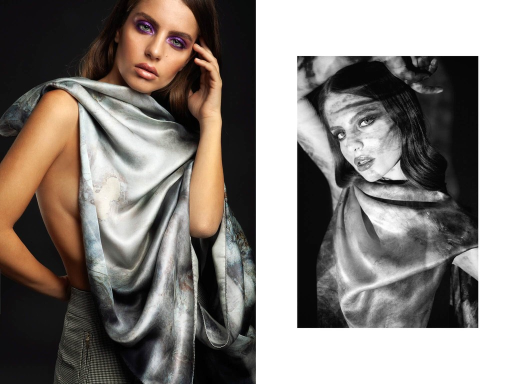 jordie silk scarf from the collection of Bet and Malfie