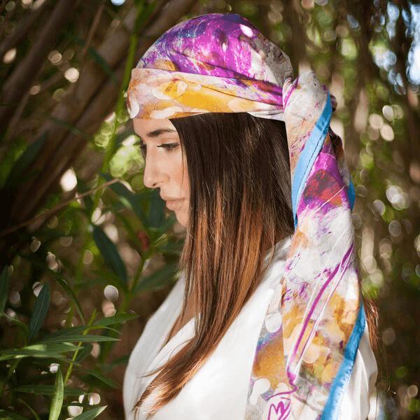 frankie silk scarf