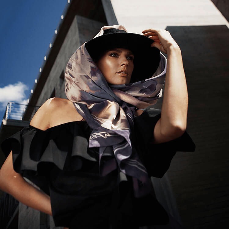 olivia silk scarf